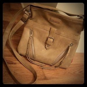 Crossbody faux leather purse